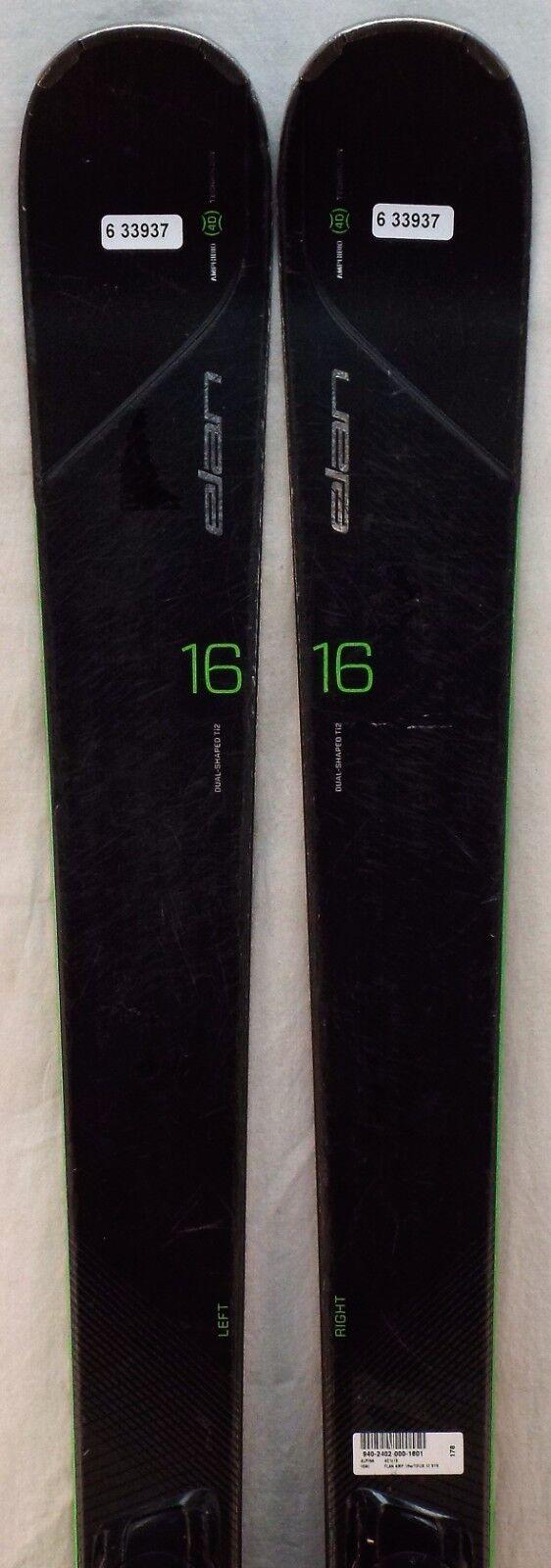 15-16 Elan Amphibio 16 Ti2 Used Men's Demo Skis w Bindings Size 178cm