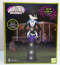 NEW 12 Ft Gemmy Airblown Inflatable Halloween Yard Blow Up MONSTER Lights Up