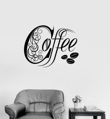 ig3308 Vinyl Decal Kitchen Coffee Shop House Cafe Decor Wall Stickers Mural