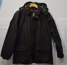 barbour bedale jacket waxed cotton  green 100%authentic c38/97 S
