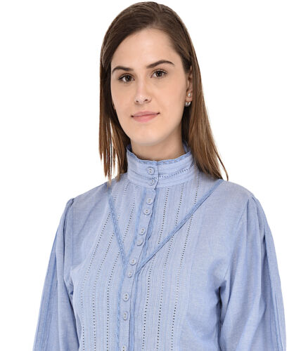 Chambray Vintage Vintage Chambray Blouse Long Sleeve Blouse qF4xUq