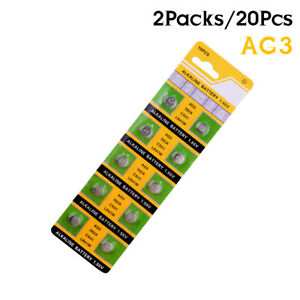 20Pcs-LR41-AG3-392A-SR41SW-384-LR736-V3GA-192-1-55V-Battery-Watch-Coin-Cell-4A8