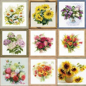 RIOLIS-Flowers-Counted-Cross-Stitch-Kits