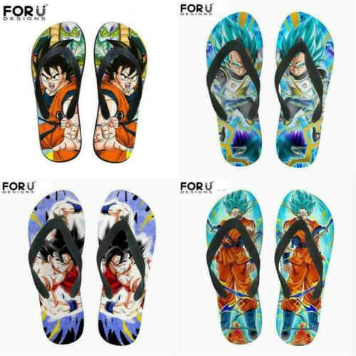 Summer flip flops Anime Dragon Ball Z Men Cool Beach Sandals Cosy Slipper Shoes