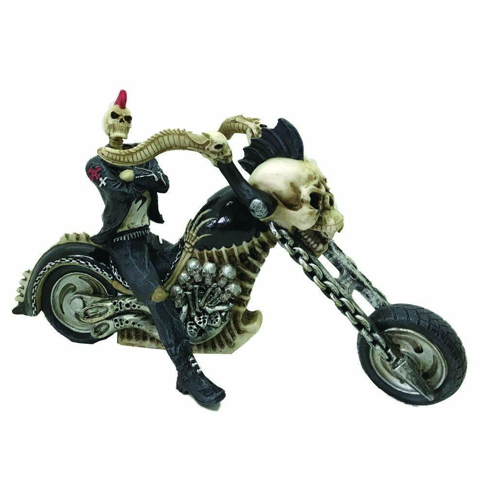 Moto Biker Hell for leather  Large Model 40cm Ghost Rider-Resin-NEW