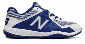 New-Balance-Kid-039-s-4040V4-Turf-Baseball-Big-Kids-Unisex-Shoes-Blue-With-White