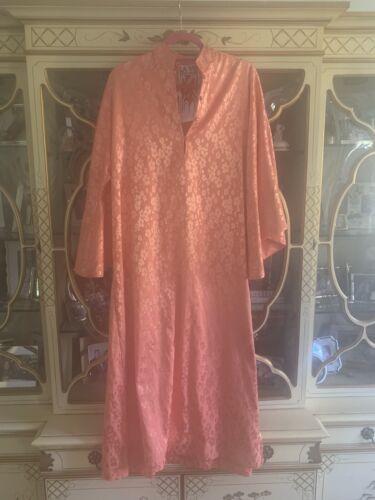 La Vie Style House Orange Silk Floral Caftan