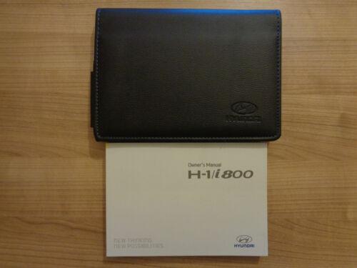 HYUNDAI H-1 i800 proprietari MANUALE//MANUAL e Portafoglio 08-17