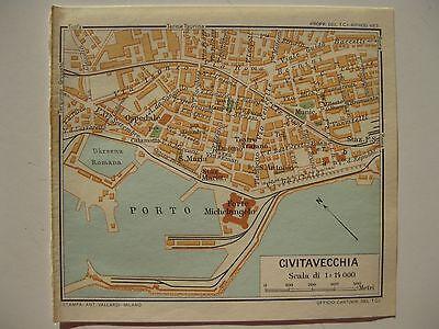 Cartina Italia Civitavecchia.Stampa Antica Mappa Stradario Civitavecchia Meta 900 Ebay