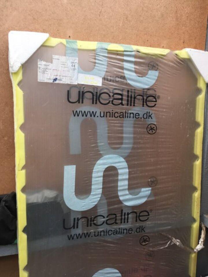 Glas brusevæg, unicaline