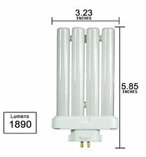 US  27Watt FML 27/65K 4 Pins Quad Tube Compact Fluorescent Light Bulb Lamp New