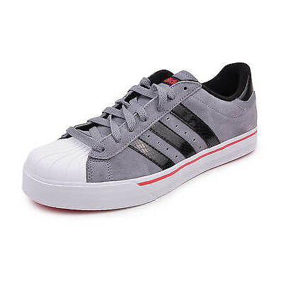 adidas New Men's Vlneo Basket Ball Court Shoes Lo Trainers Suede Grey Sneakers