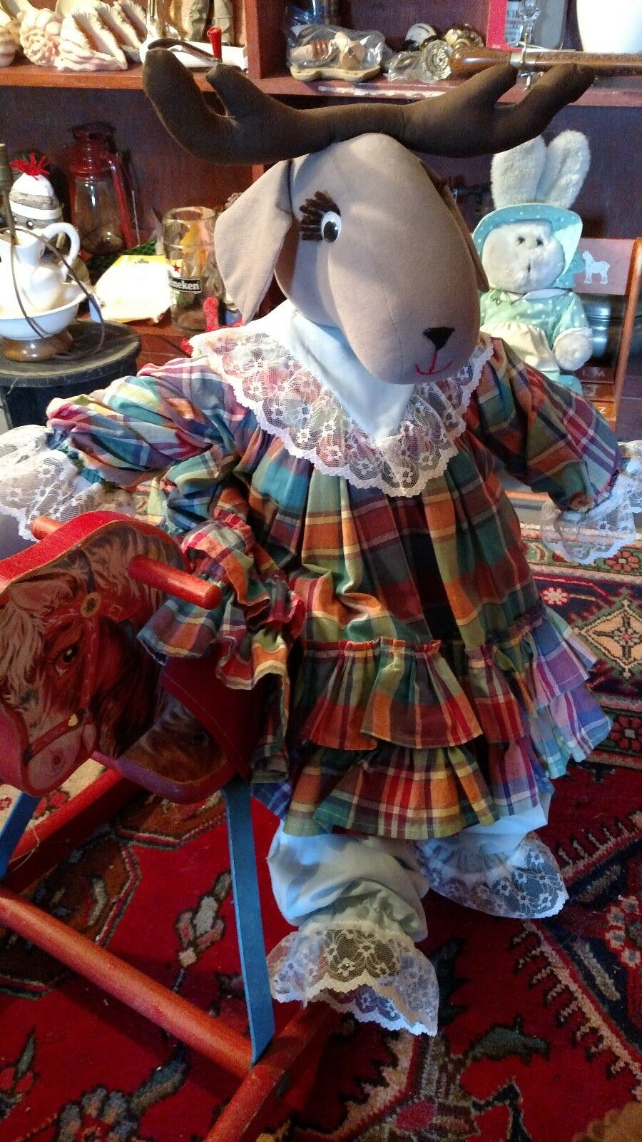 Collectable Collectable Vintage Christmas Raindeer 3' Tall