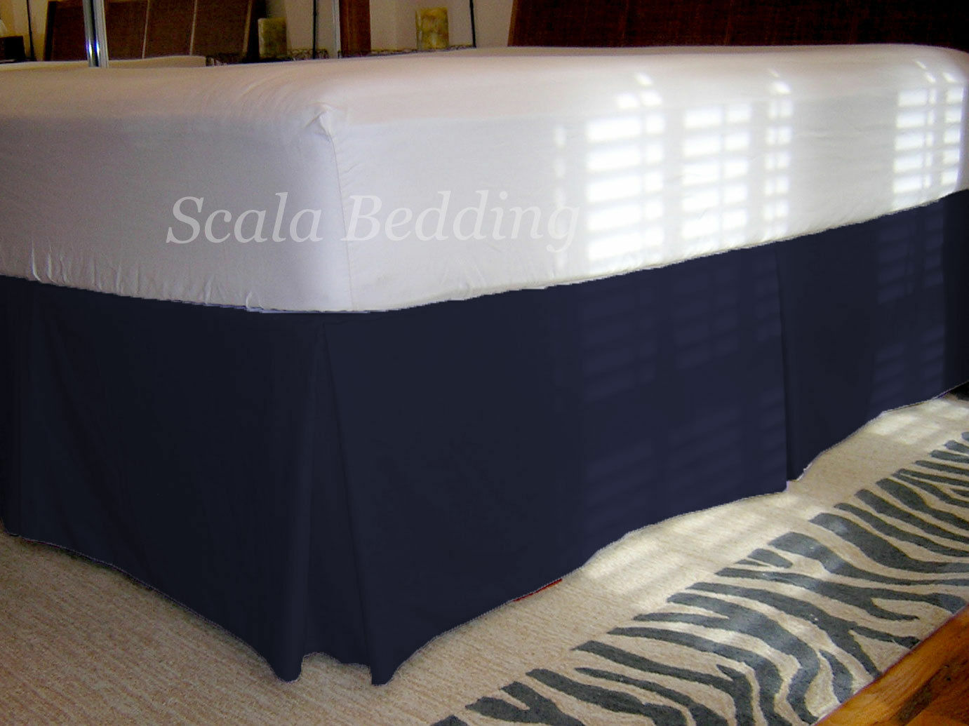 20  Drop Pleated Bed Skirt 800 TC 100% Egyptian Cotton Solid Choose Size & color