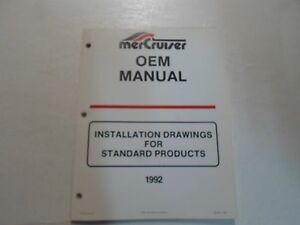 1992 mercruiser installation drawings for standard products oem rh ebay com Mercruiser Manuals PDF mercruiser user manual