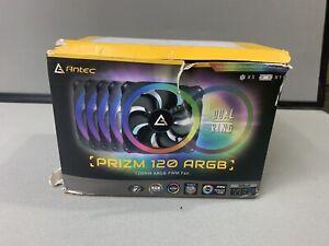 Antec Prizm 120 ARGB Contains 5-Fans & 1-Fan Controller 120mm Case Fans RGB Ring