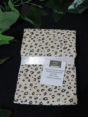 Muslin baby head ties-Leopard spots-Australian made