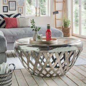 Details zu Couchtisch 97.249 Aluminium Rund Beistelltisch Stubentisch Tisch  Wohnzimmer