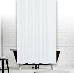 Dettagli su Nobile Tenda Doccia in Tessuto 240 x 200 cm Bianco Tinta Unita  Vasca da Bagno