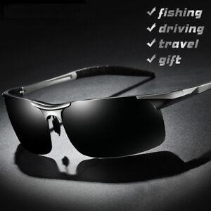 29098ac6c3 Image is loading New-Aluminum-Magnesium-Men-039-s-Polarized-Sunglasses-