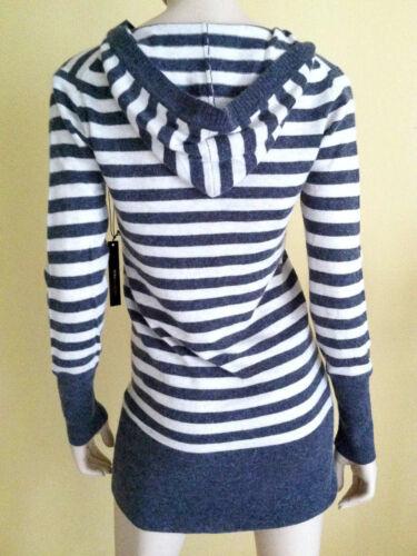 White Uld Grey Maxazria Xl Sweater Lang Off Hood Stripped Bcbg Angora w0xp8Pg