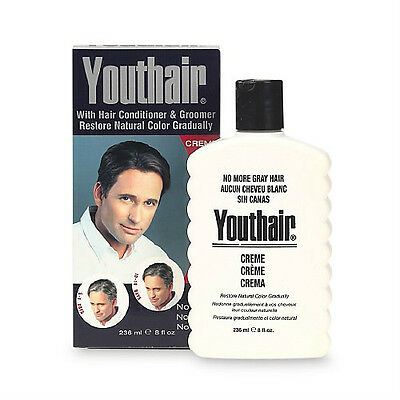 Youthair Hair Color and Conditioner For Men, Creme 8 oz