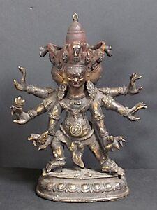 Mahakala-en-Bronze-du-BHOUTAN-BHUTAN