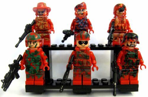 6pcs Decool Red Army Ace Battle War on Terror CSF Sniper Pioneer Udarnik Gunner