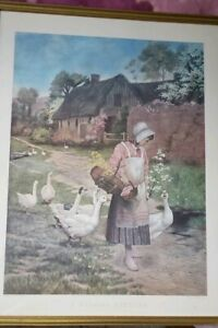 034-A-MORNING-GREETING-034-Framed-Print-of-painting-1885-by-G-Hillyard-Swinstead