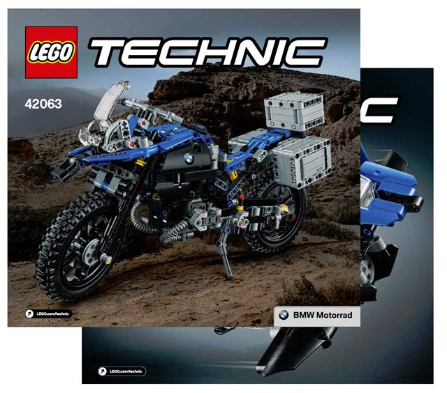 Lego Technic 42063 Marque BMW ,R 1200 Gs Adventure - Instruction de
