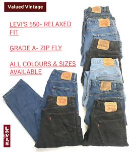 Vintage-Levis-Levi-550-Para-hombres-Calce-relajados-Grade-a-jeans-W30-W32-W34-W36-W38-W40