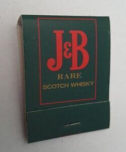 J-amp-B-Rare-Scotch-Whisky-Matchbook-Unused