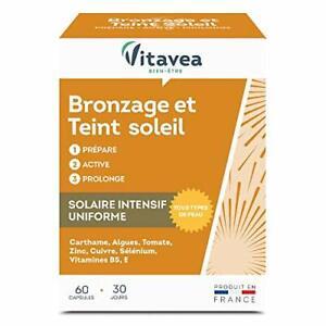 Solaire Bronzage Prépare Prolonge le Bronzage - 60 Capsules - Fabriqué en France