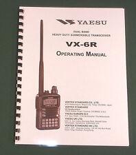 Yaesu VX-6R Instruction Manual -  Premium Card Stock Covers & 28 LB Paper!