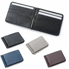 Men Slim Leather Bifold ID Credit Card Wallet with Removable Money Clip