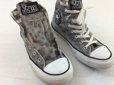 DC Comics The Joker Converse All Star Mens Size 6 Dark Gray Skateboard Shoes | eBay