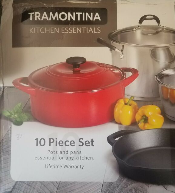 Tramontina 80198 10 Piece Kitchen Essentials Multi Material