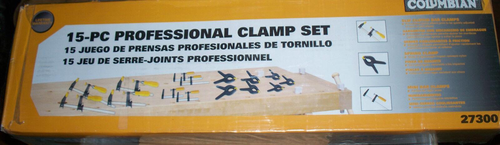 15 Piece PROFESSIONAL CLAMP SET - Columbian -  27300 - NEW