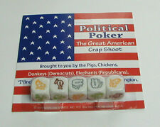 "DICE GAME FROM KOPLOW - ""POLITICAL POKER"" - HERE WE GO AGAIN! KEEP CALM & ROLL!"