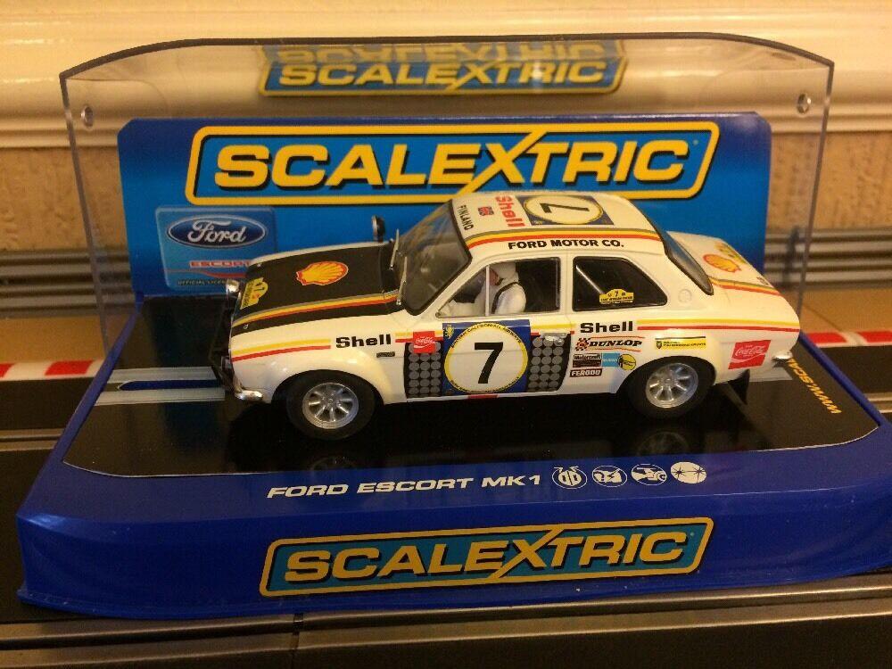 Scalextric Digital Mk1 Ford Escort No7 1972 East African Safari C3099 Mint
