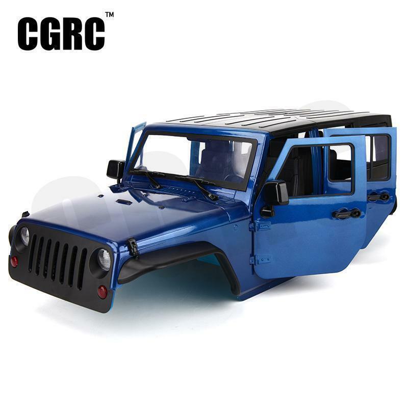 Sin montar 12.3 pulgadas 313mm distancia entre ejes Cuerpo CásCochea de coche para 1 10 RC Crawler Jeep