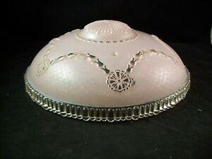 "Vintage Heavy Glass Ceiling Lamp Shade 11"" Mid Century ART ..."