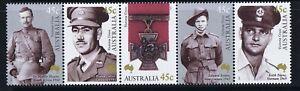 Australian-Decimal-Stamps-2000-Victoria-Cross-in-Australia-Joined-Strip-5-MNH