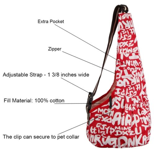 Small Medium Pet Dog Cat Carrier Single Shoulder Bag Tote Travel Oxford Soft Bag