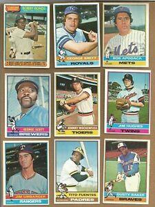 1976-TOPPS-BASEBALL-CARDS-69-87-for-100-Cards