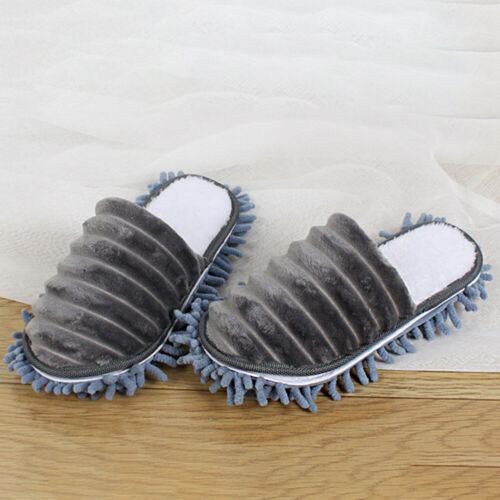 Durable Fleece Lined Shoe Sock Slippers Mop Remover Cleaning Floor Polishers