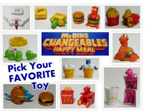 LOOSE-McDonald-039-s-1991-McDINO-CHANGEABLES-Dinosaur-Transformer-PICK-YOUR-FAVE-Toy