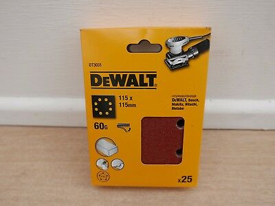 DEWALT DT3031 25 X  60GRIT  115MM PALM SANDER SANDING SHEETS DWE6411