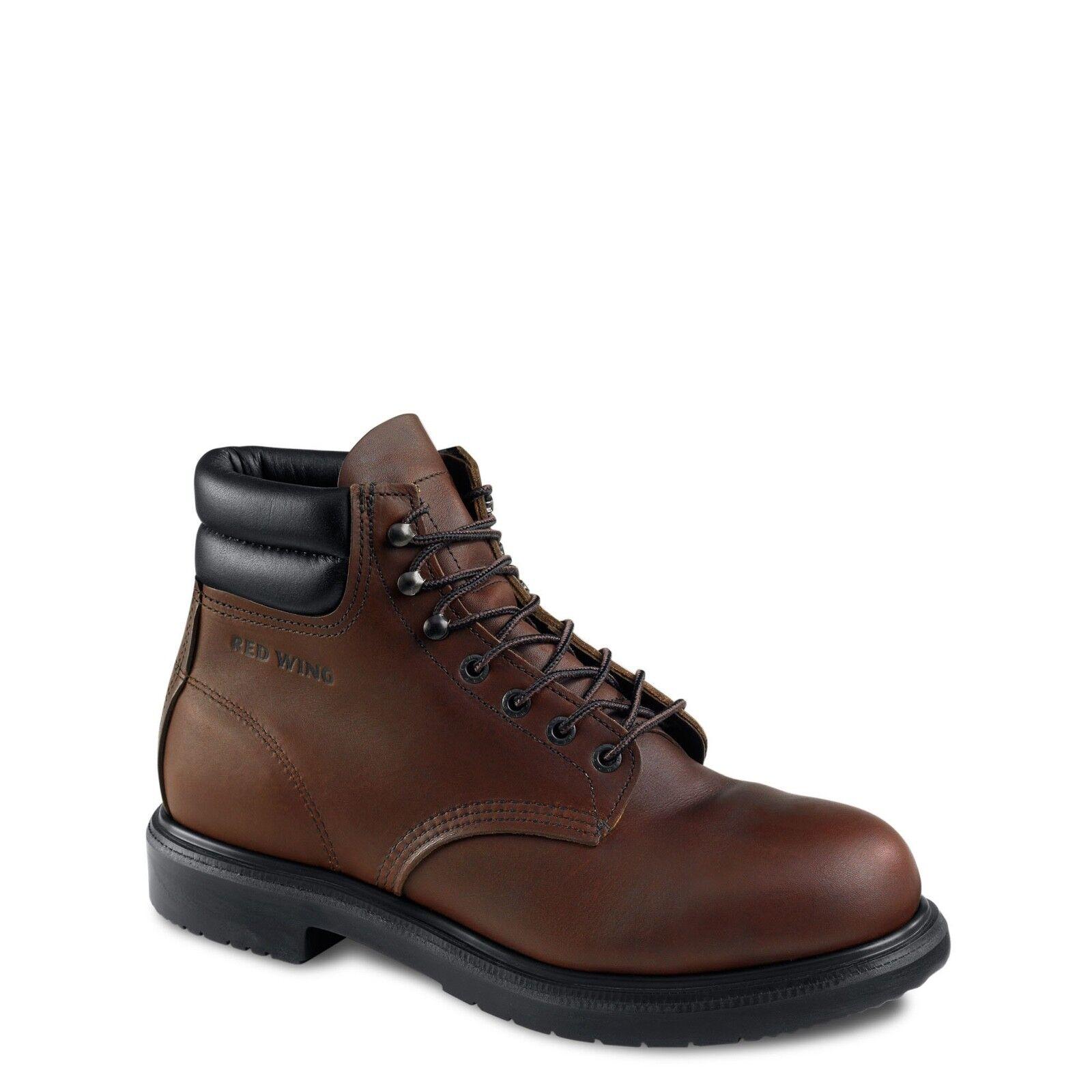 rot WING    2245 SUPERSOLE® 6  Stiefel ELECTRICAL HAZARD STEEL toe EEE width 8  8.5 fef668
