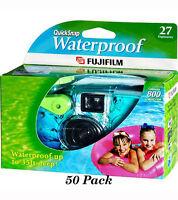 50 Fuji Quicksnap Waterproof Underwater Single Use Disposable Cameras 11/2018